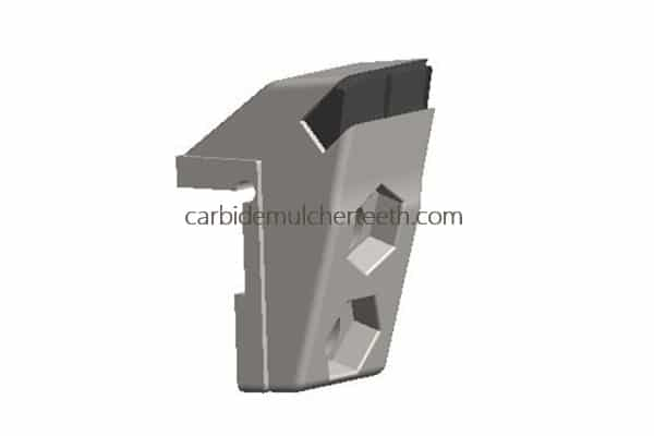 carbide mulcher teeth fitting to PLAISANCE EQUIPEMENT with 2 carbide tips, OF6 style
