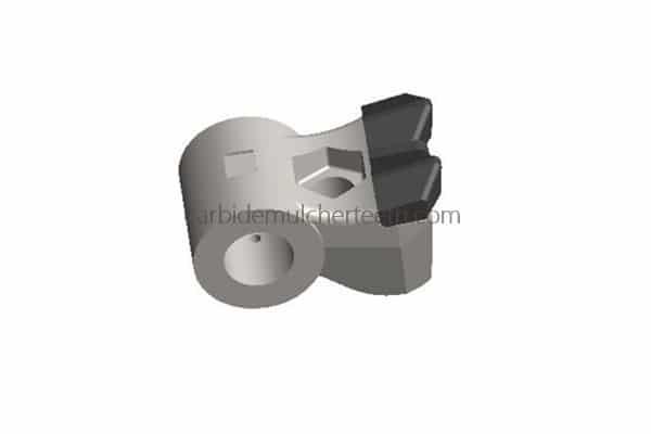 Swinging Hammer with 2+1 Carbide Tips fitting Seppi Mulcher