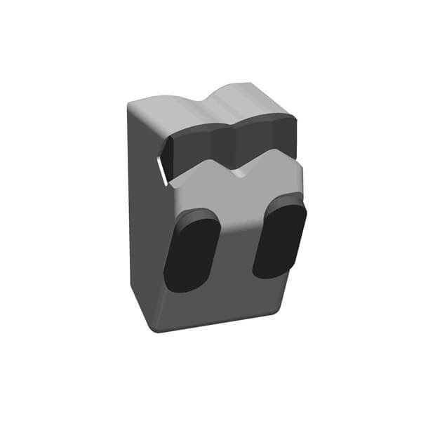 Mulcher Teeth fitting to Fecon Forestry Mulchers with 2+2 Carbide Tips, FGT Style